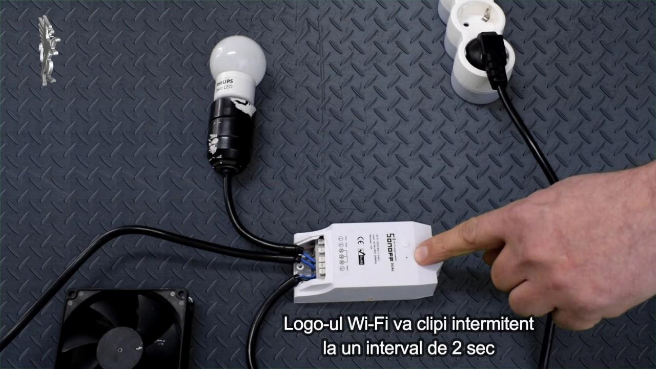 Controller WIFI SONOFF DUAL - Mod Configurare/Instalare