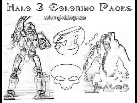 ColoringBuddyMike Halo 3 Coloring Pages Plus Halo 4 YouTube