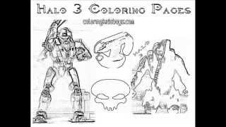 ColoringBuddyMike: Halo 3 Coloring Pages Plus Halo 4