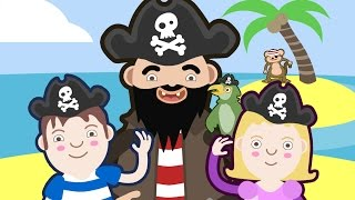 Happy Pirate Song | Actions Song For Children | Children Songs