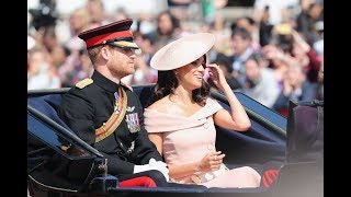 Meghan,Harry & Kate travelled in horse carriages ahead the Queen's official birthday