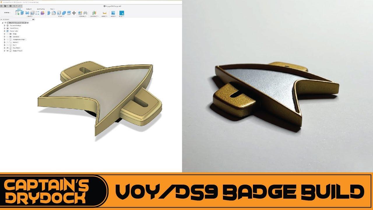 Download Star Trek Voyager/DS9 Badge Build