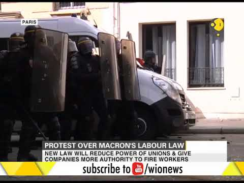 France witnesses massive protest against Macron's Labour Law reforms