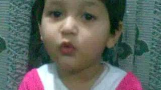 Cute baby saying kalma tayyaba