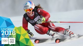 Giant Slalom - Melanie Meillard (SUI) wins Ladies' gold | Lillehammer 2016 Youth Olympic Games