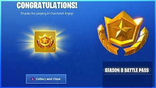 I Got a FREE SEASON 8 BATTLE PASS and How To COMPLETE OVERTIME Challenges in Fortnite!