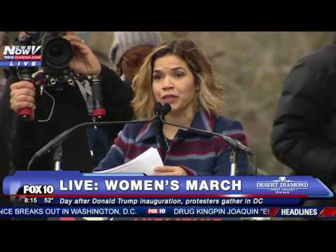 FNN: America Ferrera Just Said That The President IS NOT AMERICA At Women's March