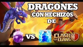 DRAGONES Y RABIA O DRAGONES Y RAYO?! | CLASH OF CLANS | ESPAÑOL |