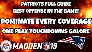 PATRIOTS FULL OFFENSIVE GUIDE! BEAT EVERY COVERAGE BEST OFFENSE IN MADDEN! Madden 19 Tips & Tricks