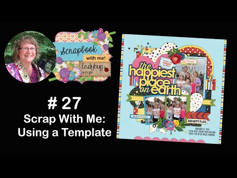 #27 Scrap With Me: Making A Disney 12x12 Digital Scrapbook Page With Photoshop CC Using A Template