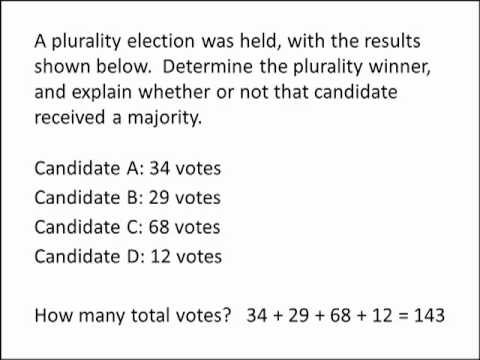 Math for Liberal Studies: Plurality and Majority
