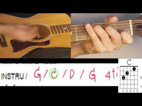 สอน ไม่เคย ตีคอร์ด + intro  แบบง่าย ไม่มีคอร์ดทาบ สำหรับมือใหม่ เล่นตามเพลง คีย์G - น้าจร เชียงใหม่
