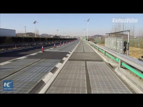 World's first solar-panel expressway opens for testing in Sh