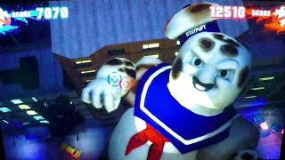 Ghostbusters Arcade Gameplay Kids Fun: Ghosts, Slimers & The StayPuft Marshmallow Man Boss Fights