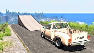 Who Needs Bridges Anyway? #2 - BeamNG Drive Jumps & Crashes