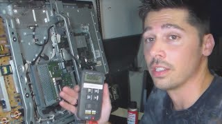 2 ways to test bridge rectifiers & check standby volts on power board using meter