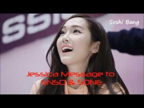[SNSD] Jessica Message to SNSD & SONE