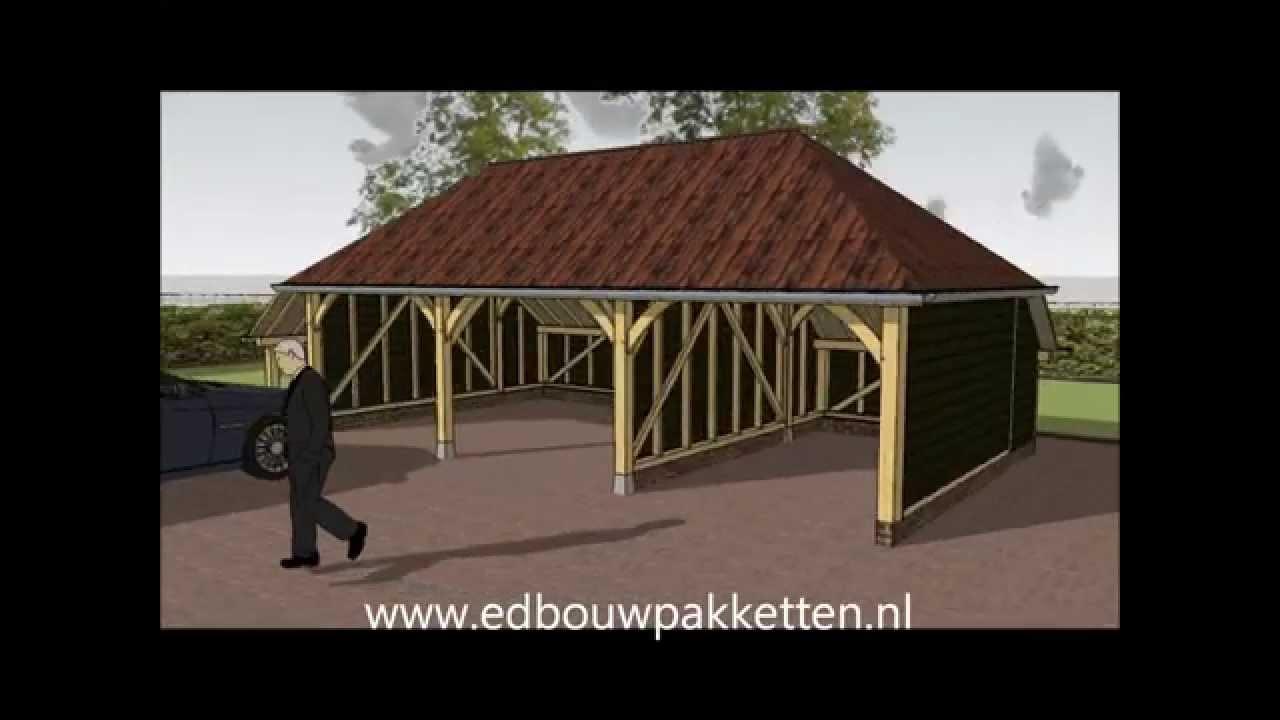 carport bouwen, hoe bouw ik een eiken garage of douglas gebint ...