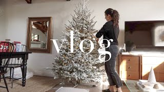 VLOG: Christmas Tree Decorating, Backyard Updates, Clean With Me