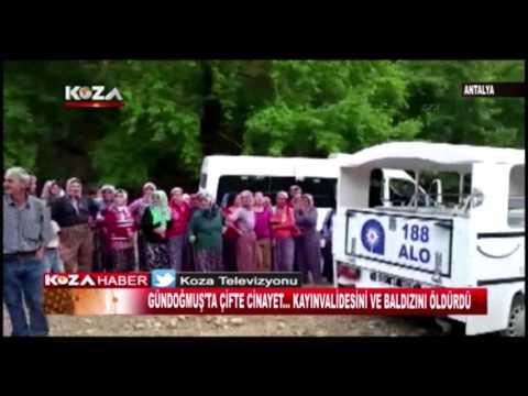 Antalya Gündoğmuş ta Çifte Cinayet