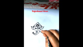 how to draw a ganesha (vinayaka)  by mehndi henna cone: tutorial for drawing a ganesha idol