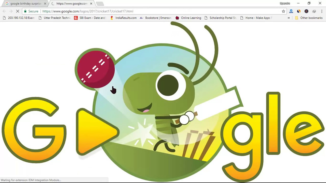 Google Birthday Surprise Spinner Cricket Game Google Doodle Fun