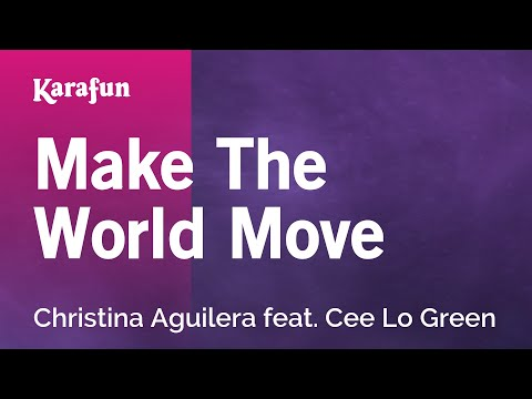 Karaoke Make The World Move - Christina Aguilera *