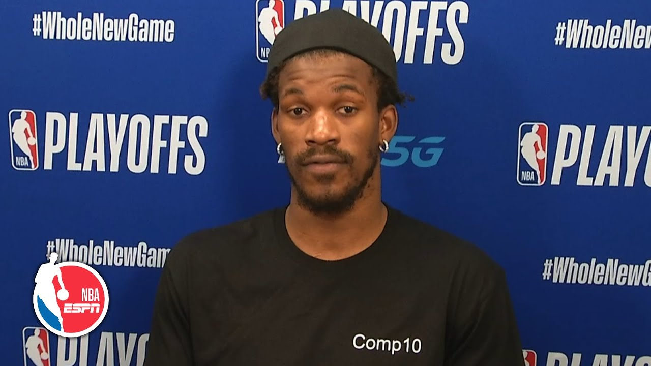 Jimmy Butler Praises Heat Teammates And Coaches After Sweeping Pacers 2020 Nba Playoffs Youtube