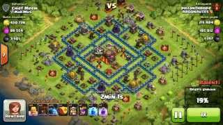 BM070 Balloons and Minions Strategy against champion level opponent - Clash of Clans CoC