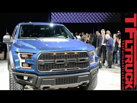 watch the 2017 ford f 150 raptor debut at the detroit i doovi. Black Bedroom Furniture Sets. Home Design Ideas