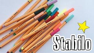 Фломастеры Stabilo|Обзор|18 цветов