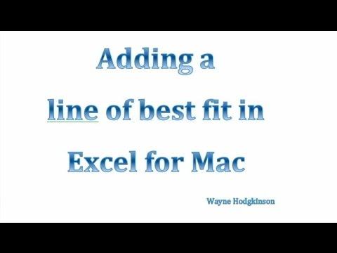 excel best fit line