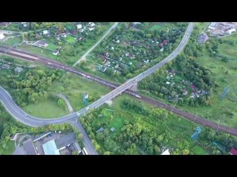 Поезд Иволга Эг2Тв на Рижском ходу вид сверху