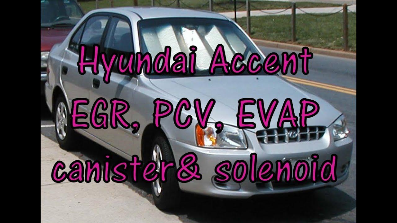 hyundai accent emissions pcv valve evap canister evap purge  [ 1280 x 720 Pixel ]