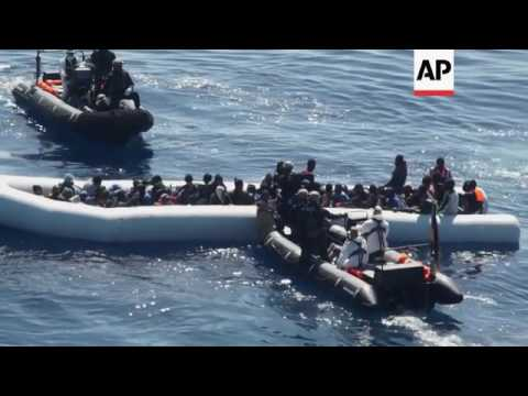 German ship rescues migrants