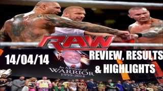 WWE RAW 14/04/14 Review, Results & Highlights | EVOLUTION RETURNS