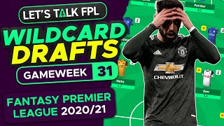 FPL Gameweek 31 - WILDCARD DRAFTS! Bruno or Vardy?! | Fantasy Premier League Tips 2020/21