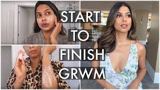 GRWM: BIG Event Makeup, HAIR & OUTFIT + Skinprep!