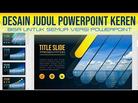 Desain Judul Power Point Yang Menarik