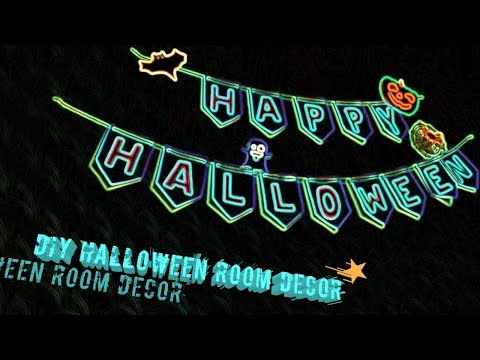 Easy paper banner - Halloween Room Decor DIY
