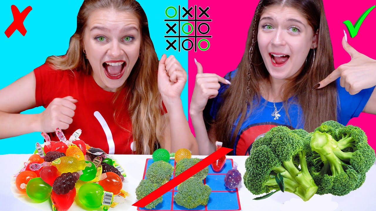 ASMR Tic Tac Toe Food Challenge | Most Popular Spicy, Sweet, Sour Food