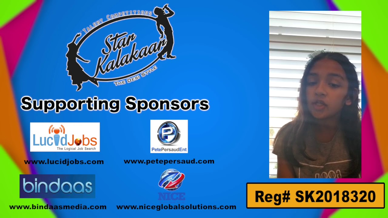 Participant Reg# SK2018-320 Introduction - US Star Kalakaar 2018 || DesiplazaTV