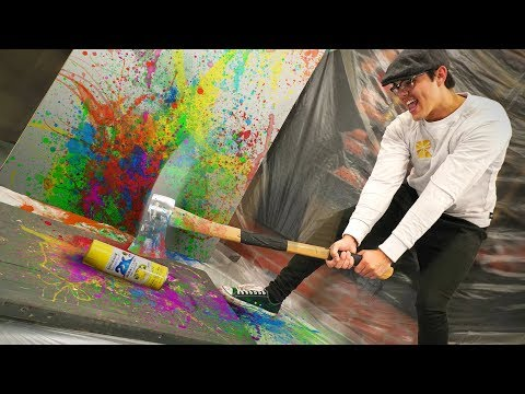 Painting With Spray Paint Explosions!
