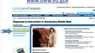 Effective Strategies for Mathematics RTI with...