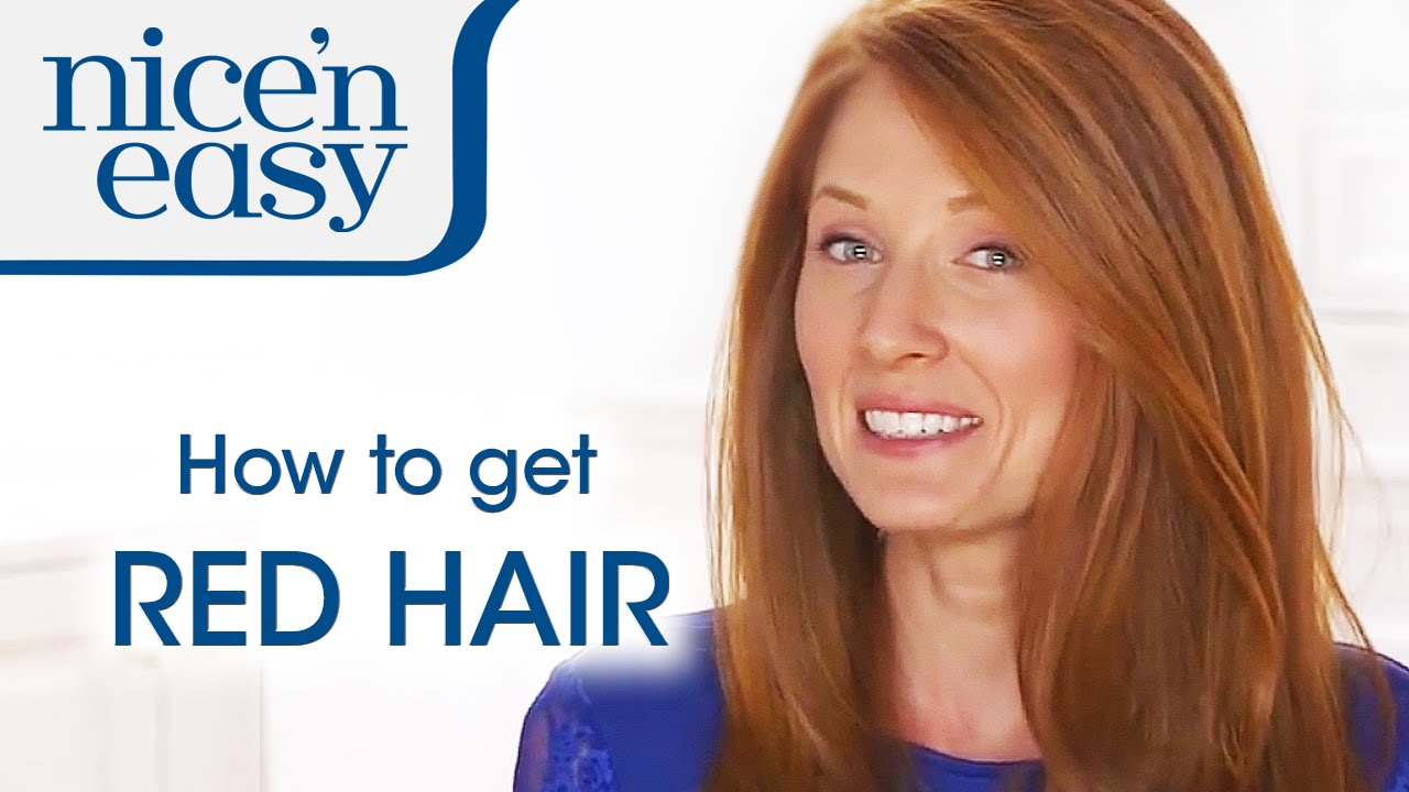 Home Hair Colour Tips: How to Dye Your Hair Red | Nice \'n Easy ...