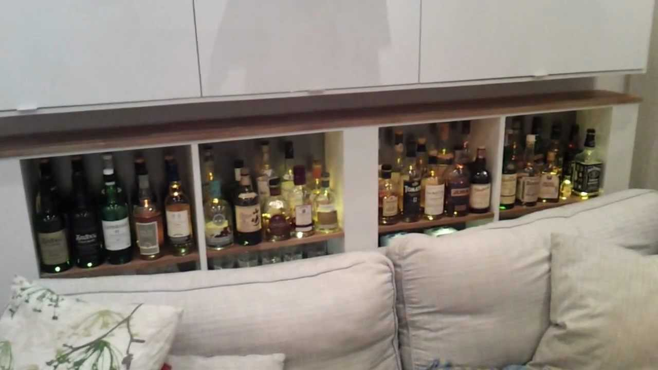 Concealed whisky cabinet - YouTube