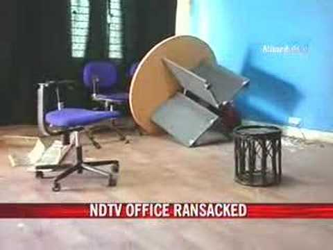 NDTV's Bhopal office attacked