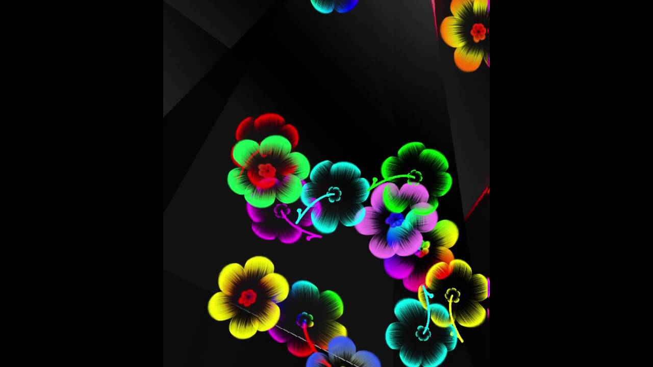 neon flowers live wallpaper youtube
