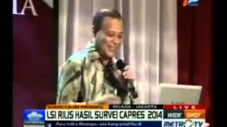 Lembaga Survey Indonesia (LSI) Rilis Hasil Survei Capres 2014