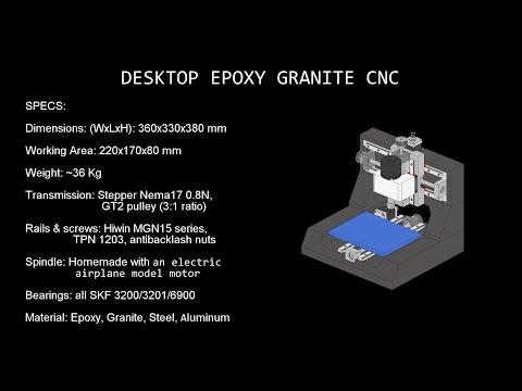Mini Epoxy Granite CNC - 1/4